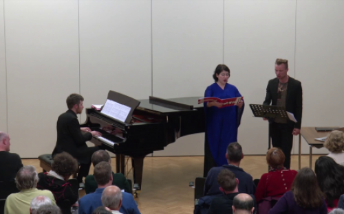 Lore Lixenberg with Richard Uttley and Niels Ronsholdt