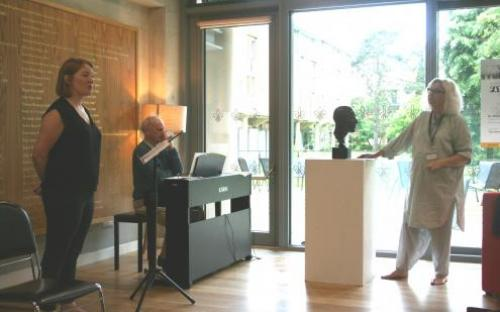 Di Trevis and Dominic Muldowney masterclass with Claire Brown