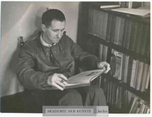 Bertolt Brecht in Sweden, August 1939